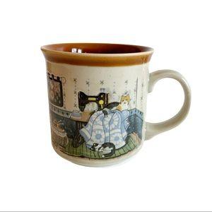 Otagiri Cats Sewing Room Coffee Cup Mug Japan